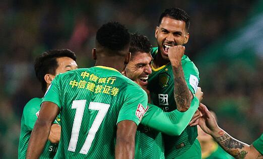 足协杯首回合:国安2-1上港
